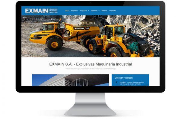 Diseño de Logo y Página Web para Exmain