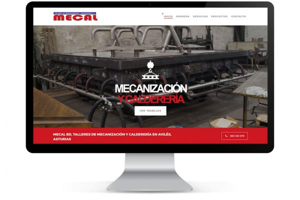 Diseño de Página Web Mecal BD Logic