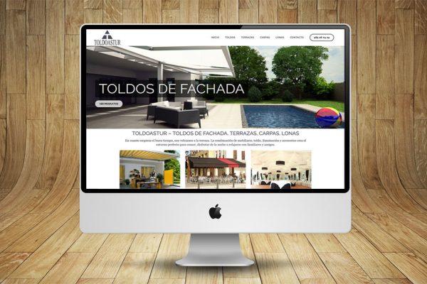 Diseño de Página Web para TOLDOASTUR
