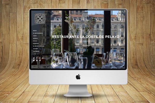 Diseño de Página Web Restaurante La Corte de Pelayo
