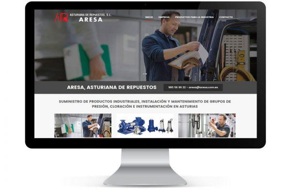 Diseño de Página Web ARESA, Asturias