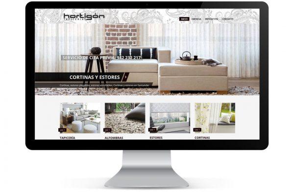 Diseño Página Web Hortigón Tapicerías