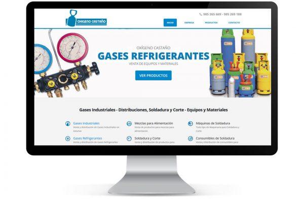 Diseño de Página Web Oxígeno Castaño